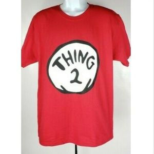 Thing 2 Dr. Seuss Cat In The Hat T-Shirt L Costume